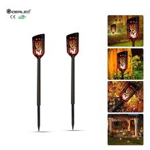 2-Pack New Solar Flame Flickering Garden LED lamp Waterproof solar powered dynamic Torch Light outdoor garden light