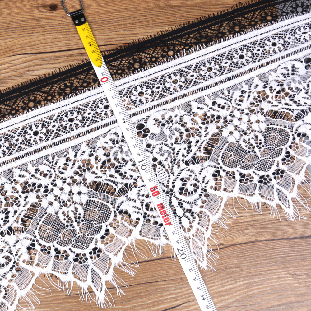 3 Yards 25cm Eyelash Trim Ribbon  Lace TRIM TRIMMINGS Sewing Dress