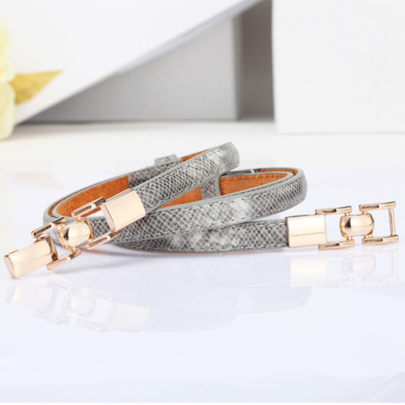 [HIMUNU] New style serpentine   belts   for women fashion chain women leather   belt   thin   belt   with dress designer brand cummerbunds