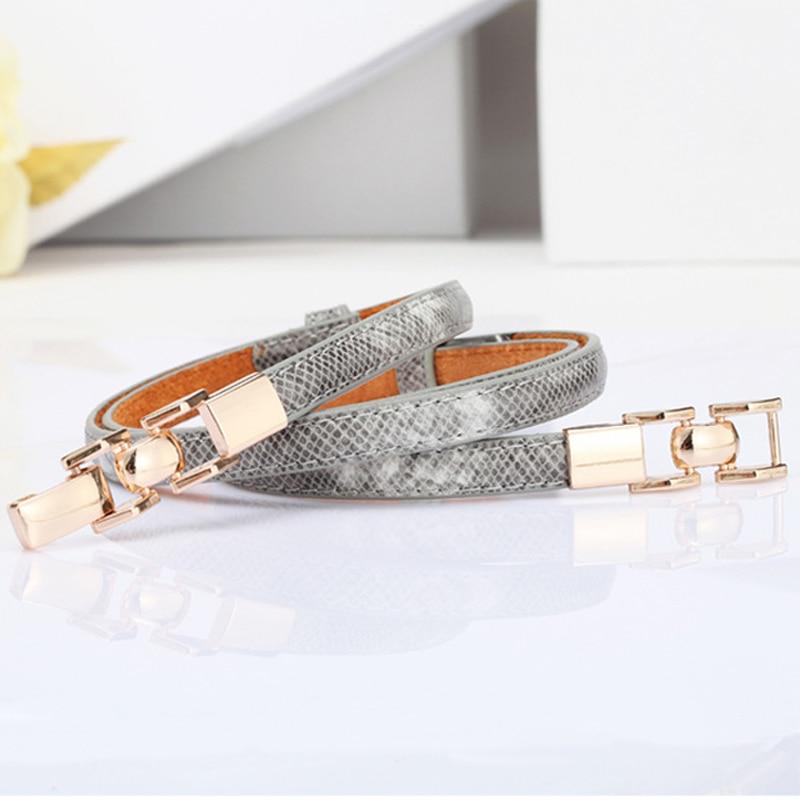 [HIMUNU] New style serpentine   belts   for women fashion chain women leather   belt   thin   belt   with dress designer brand cummerbunds