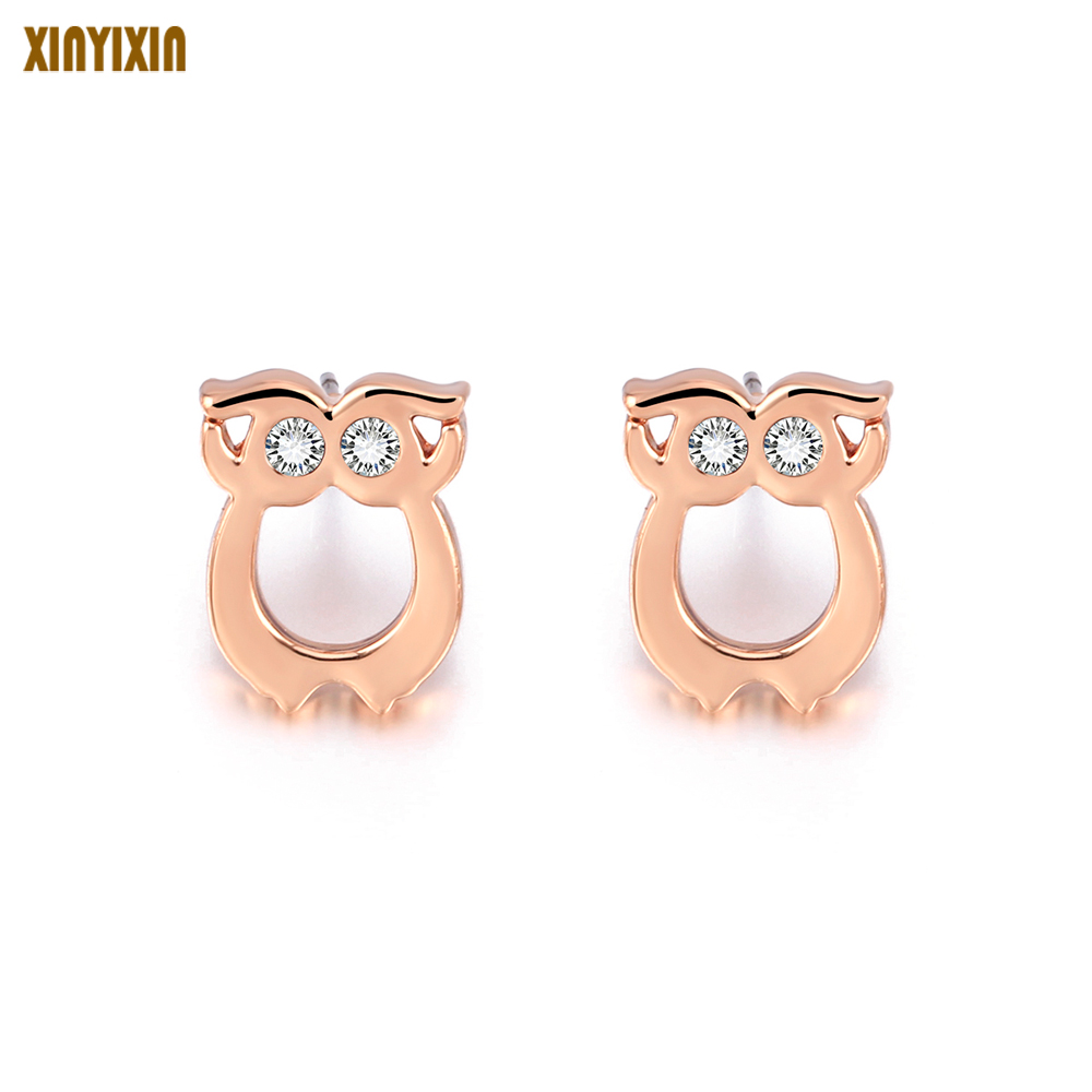 2018 Fashion Simple Creative Cute Silver Gold Rose Animal Pig Earrings Earrings Grils For Women Girls Silver Color Gift Fashion
