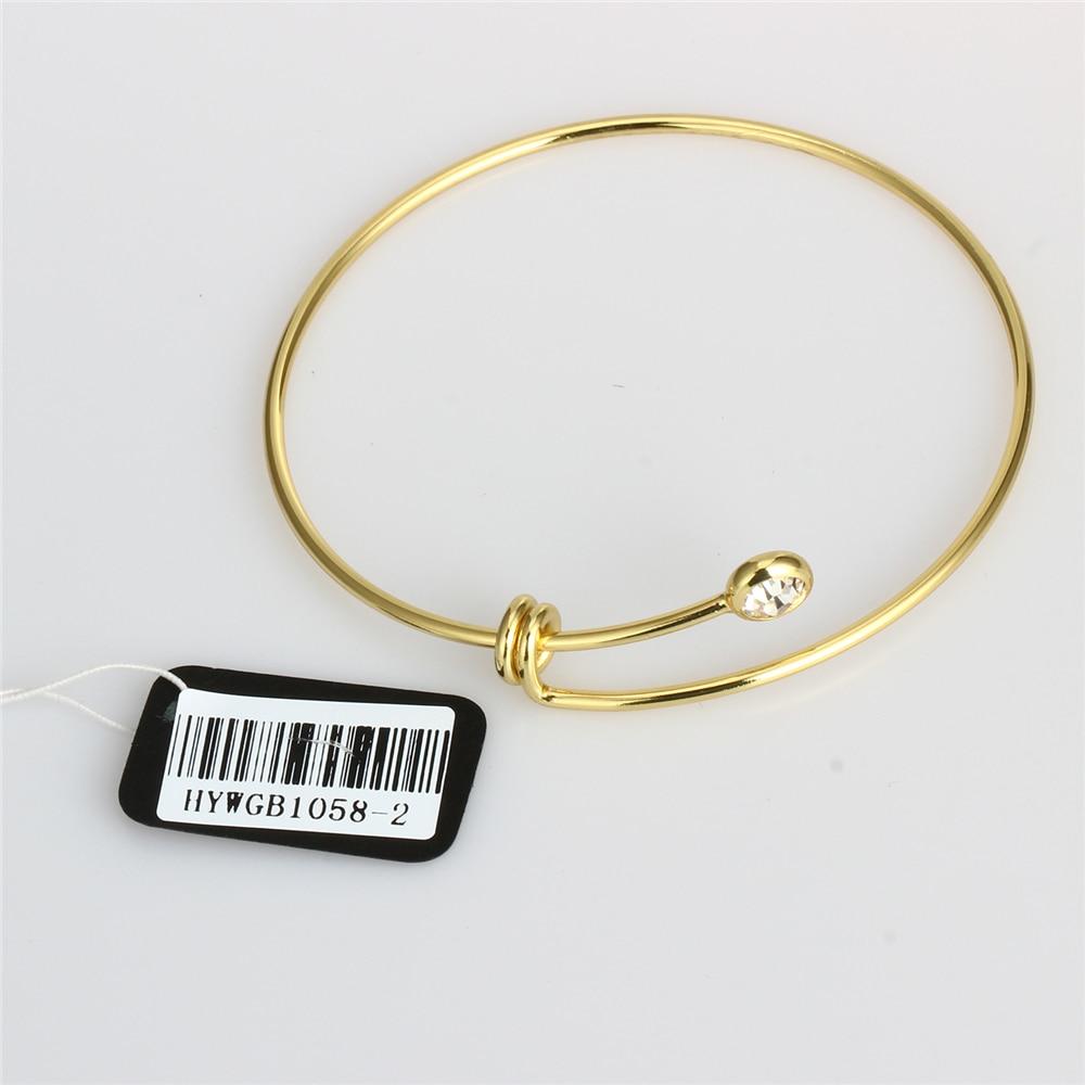 2017 New gold color Bangles Adjustable Classics Minimalist Style ...