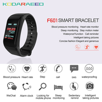 F1 Smart Bracelet Heart Rate tracker Blood Pressure Monitor Call Reminder Fitness Tracker Waterproof Activity Tracker for iPhone