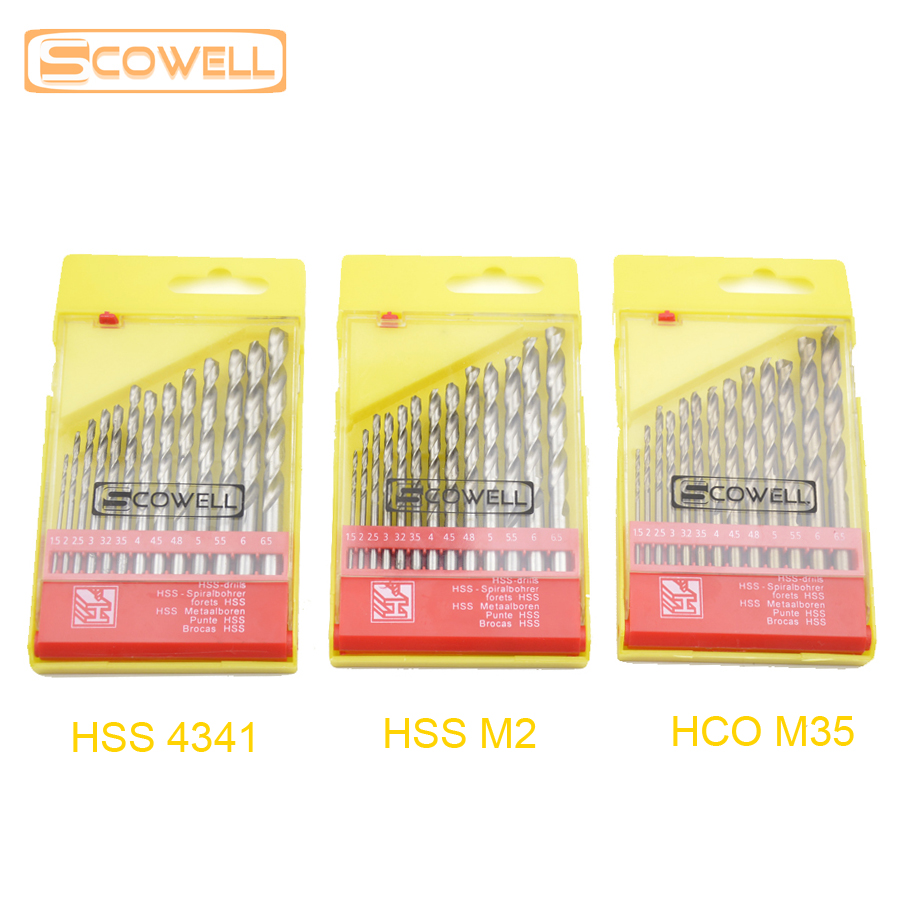 Free Shipping 13 pcs Cobalt HSS twist drill bits set metal drilling DIY tools 1.5mm - 6.5mm jobber drill bit for stainless steel new 10pcs jobbers mini micro hss twist drill bits 0 5 3mm for wood pcb presses drilling dremel rotary tools