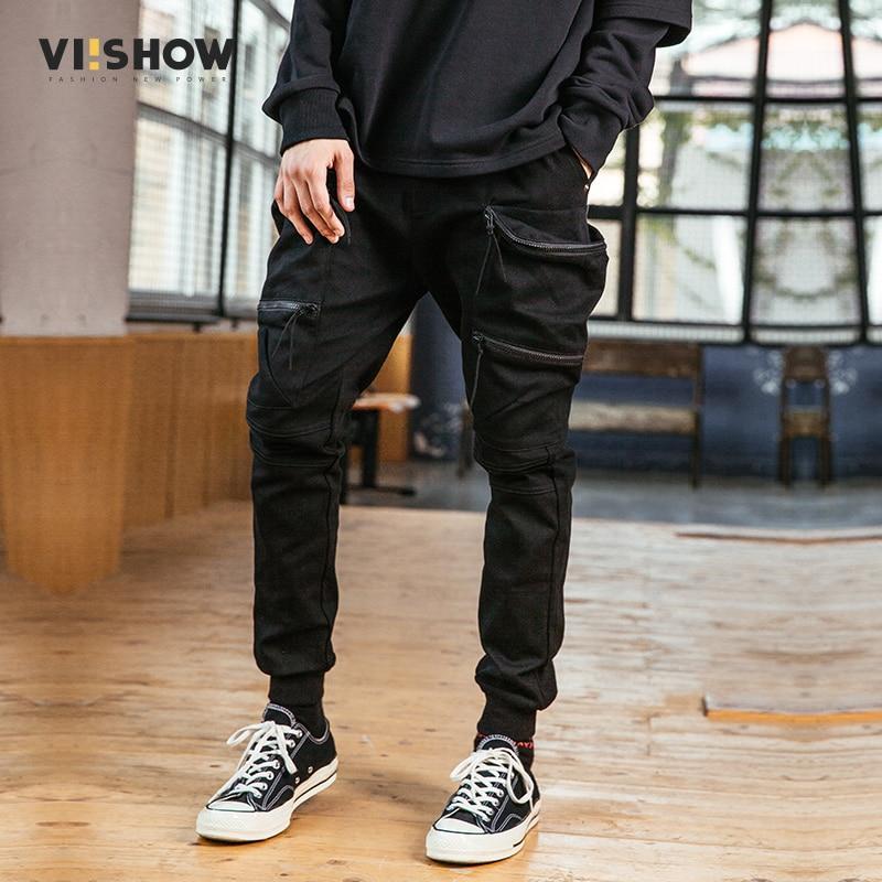 Viishow Brand Mens Pants Autumn Pants Men Casual Cargo Pants Casual Slim Fitness Trousers Sweatpant For