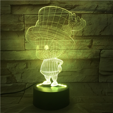 18CM Cute Boy 3D Light LED 7 Colors Change Toy USB Cable Touch Switch Table Drcor Christmas Gifts Kids Hobbies 3D530