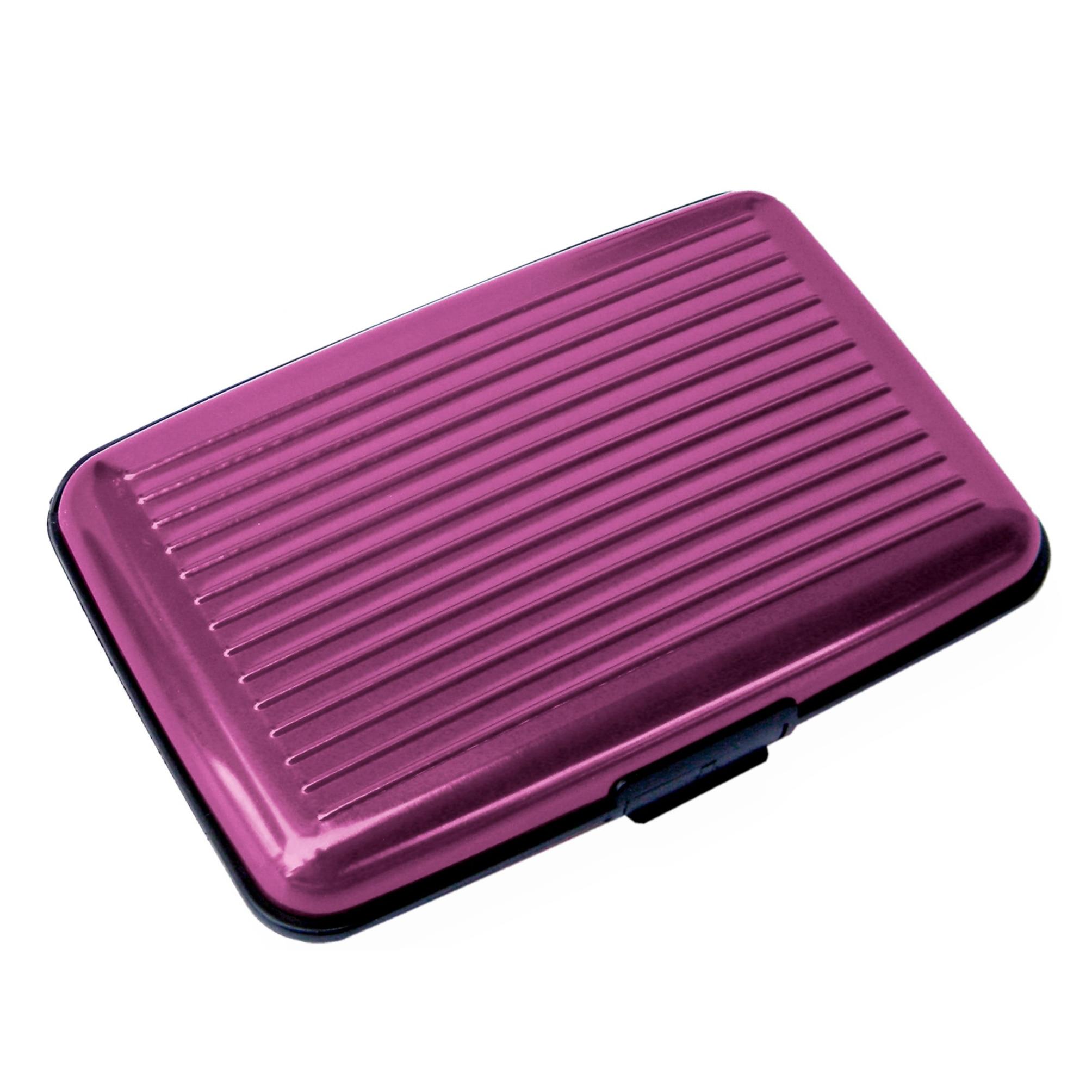 10pcs( ABDB Card Holder 2 smooth sides CB name card ALUMINIUM RIGID Security Credit Cards Holder Wallet * PURPLE