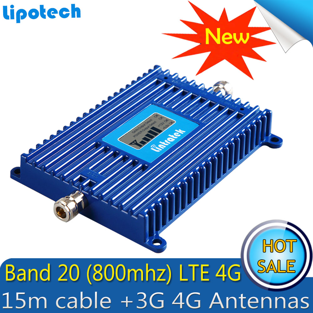 Image 2 - Lintratek Repetidor LTE FDD 800Mhz (Band 20) 4G Signal Booster  70dB Cellphone Cellular 4g lte 800mhz Signal Repeater AmplifierSignal  Boosters