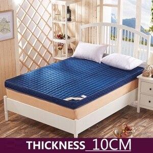 Image 3 - ข้นหน่วยความจำโฟมที่นอนเสื่อทาทามิพับสูงReboundที่นอนฟองน้ำสำหรับครอบครัวผ้าคลุมเตียง