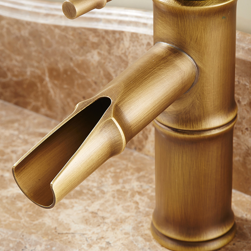 Antique Bamboo Bathroom Faucet