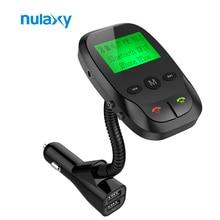 Nulaxy 2017 Nueva Llegada FM Transmitter Car Audio Reproductor de MP3 Inalámbrico Modulador de FM Bluetooth Manos Libres Kit de Coche Con Cargador USB