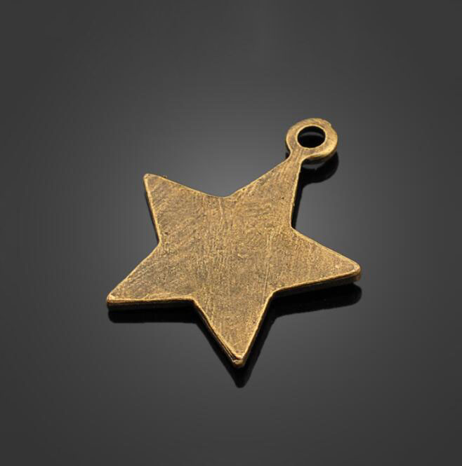Купить с кэшбэком 100pcs Antique Bronze Star Charms Pendant -DIY Jewelry Accessories Findings For Necklace Bracelet Metal Fashion Bag 20.1X20.8mm