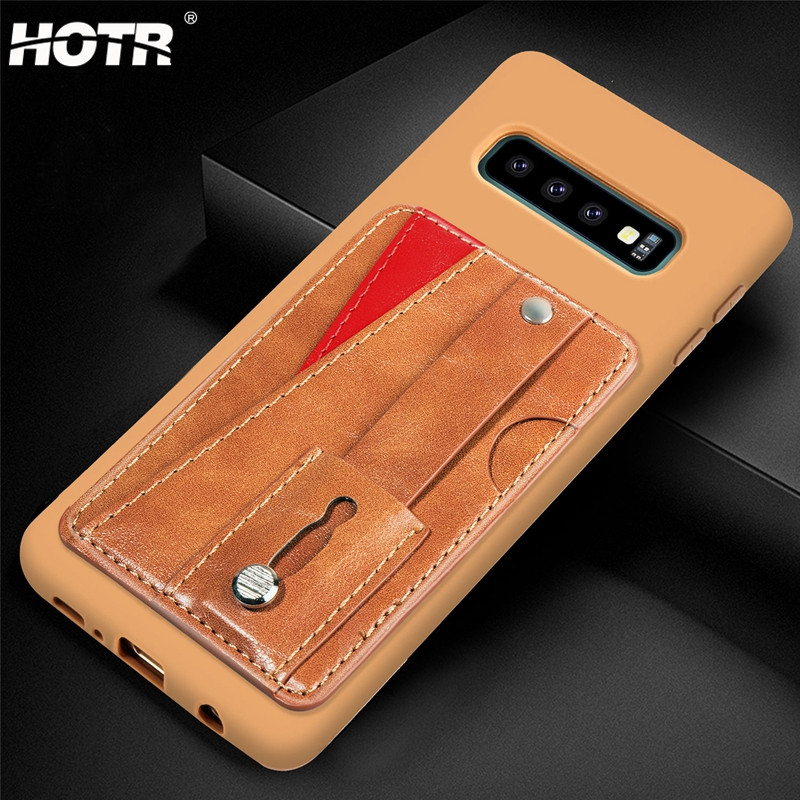 S10 Plus Leather Case for Samsung Galaxy S10 PU Leather Back Case for Samsung Galaxy s10e Note 9 8 S7 edge S8 S9 Plus Stand Case