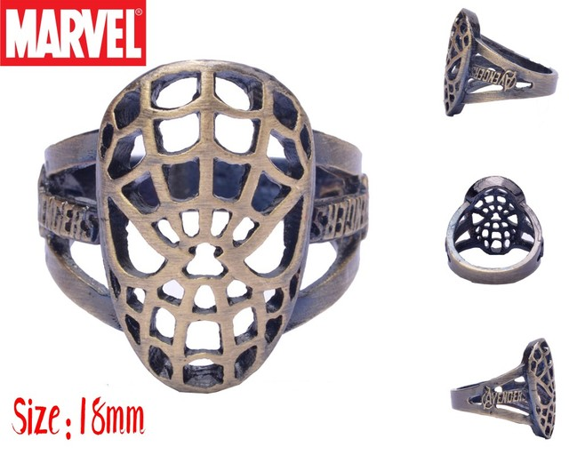 Кольцо человек-паук 18 мм