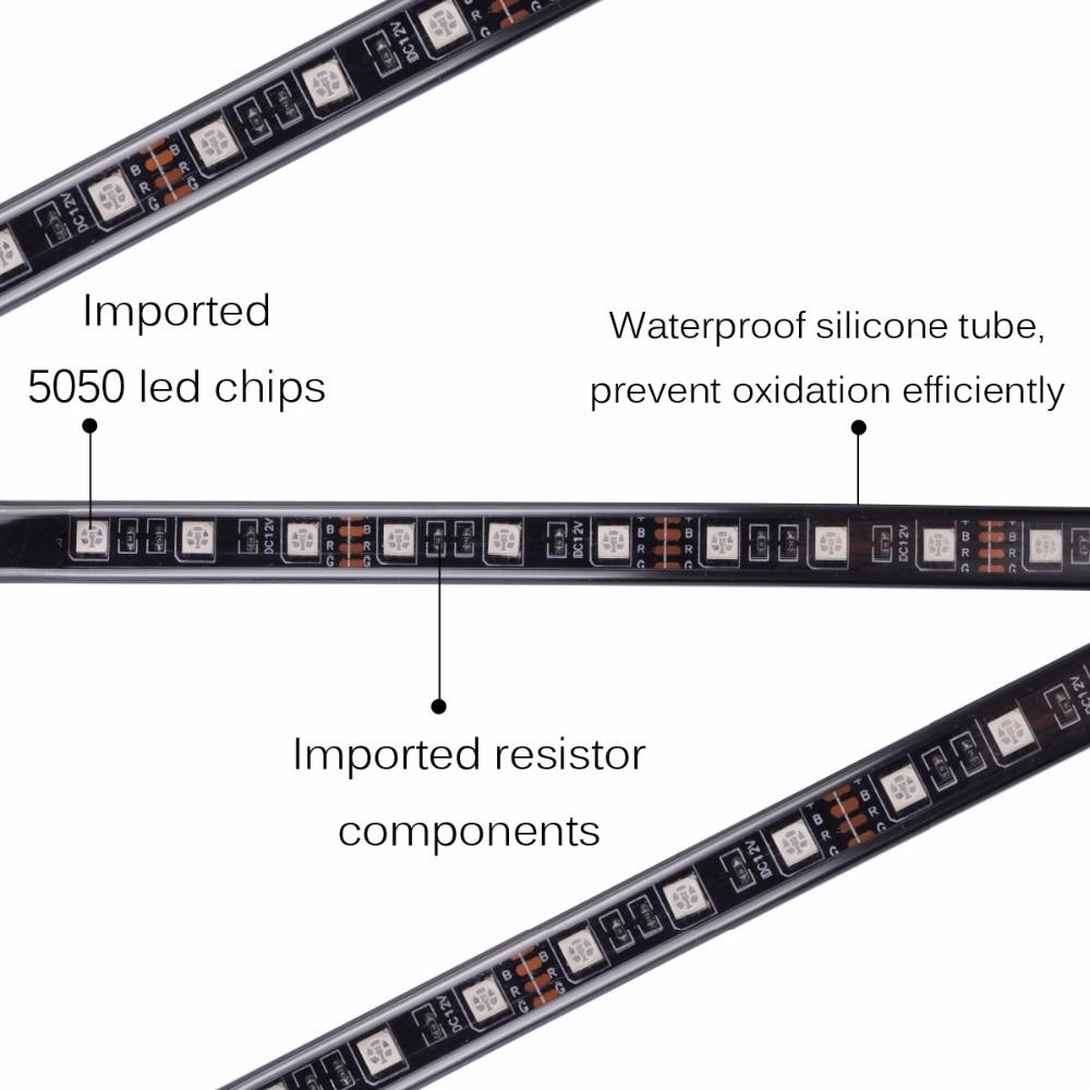 AutoEC avtomobilin daxili zolaq atmosferi İşıq 5050 RGB 90x120 sm - Avtomobil işıqları - Fotoqrafiya 3