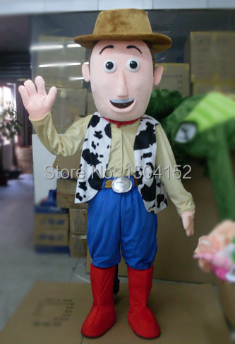 Hot sale Woody Cowboy Mascot Costume adult Fancy Dress Charactor school mascot costume free shipping