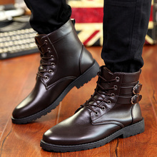 The New England Boots In Autumn Increased Martin Boots  Men Boots Retro Fashion Boots Personality