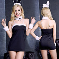 Women Sexy Bunny Costumes Cosplay Sexy underwear night club wear Rabbit Long Ear Uniforms Lingerie Mini Dress