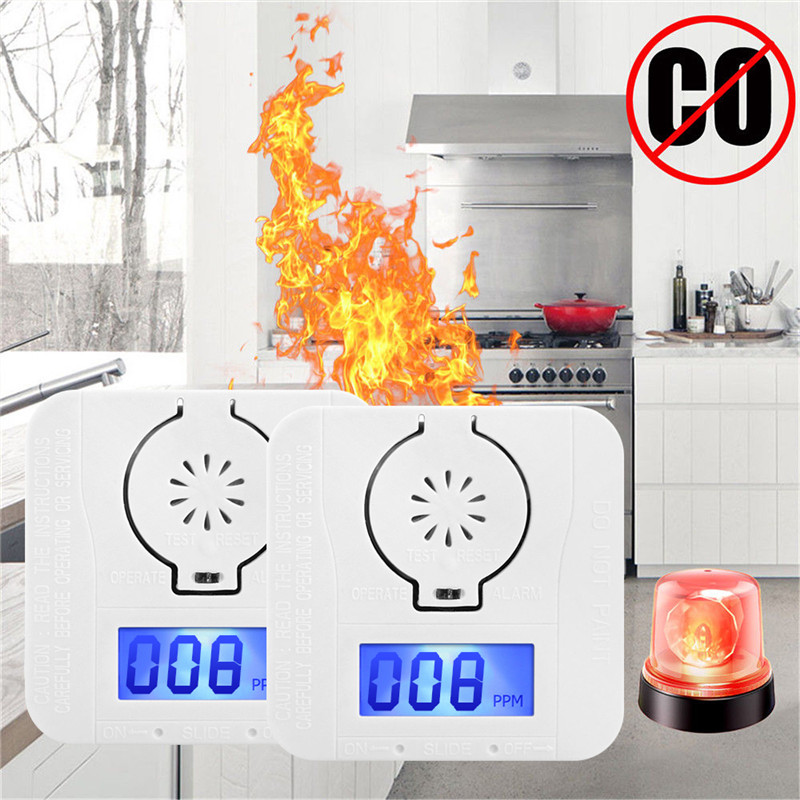 Fire Protection Security & Protection Fast Deliver 85db Lcd Carbon Monoxide Detectors Smoke Sensor High Sensitive Gas Alarm Co Poisoning Detector For Kitchen Warning Home Security