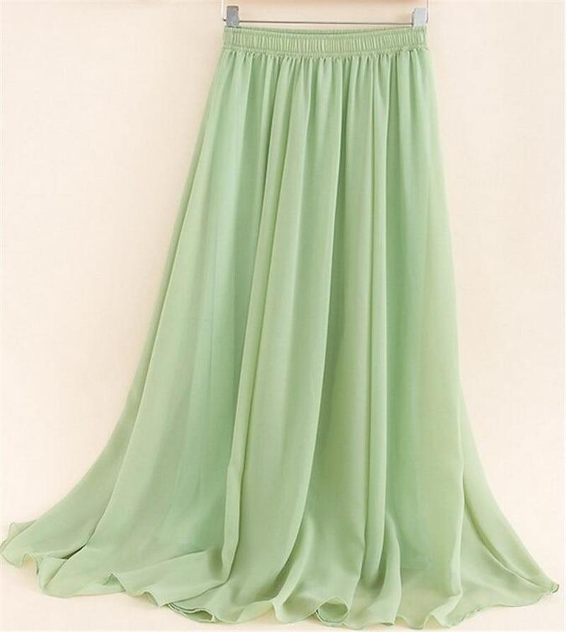 summer maxi 2016 fashion chiffon skirt casual