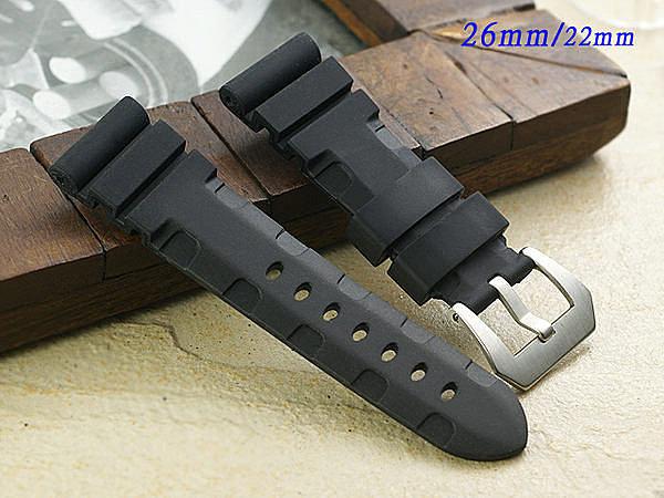 Prix pour Sport Style Bracelet En Caoutchouc, 24 MM/26 MM Bracelet Pour Panerai Bandes de montre, antipoussière Et Imperméable Bandes de Montre