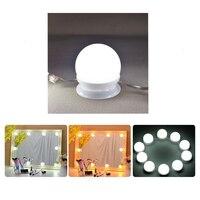 Makeup Mirror Vanity LED Light Bulbs Kit USB Charging Port Cosmetic Lighted Make up Mirrors Bulb Adjustable Drop Shipping
