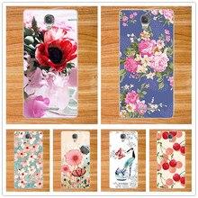 Moda 10 colorido diy pintado tpu soft case para alcatel onetouch pop4 telefone proteção shell capa para alcatel one touch pop 4