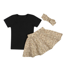 Girl adult pettiskirt tutu party dance summer casual clothes set children T-shirt + skirt 3 pieces suits clothing sets for kids
