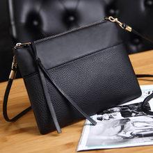 6a0743a5c99 Coofit vrouwen Clutch Bag Eenvoudige Zwart Lederen Crossbody Tassen Gehuld  Vormige Kleine Messenger Schoudertassen Grote Verkoop