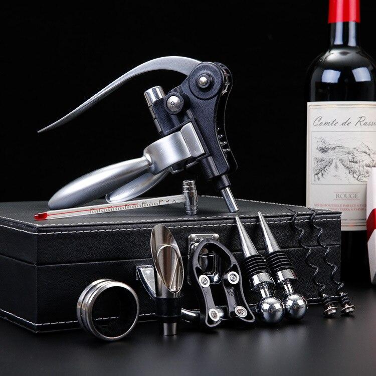 Neuf de Haute qualité Vin Rouge Ouvre-bouteille Cork Remover Tire-Bouchon Outils bouteille de Vin bouchon Decanter ensemble D'anniversaire Cadeau Dropship