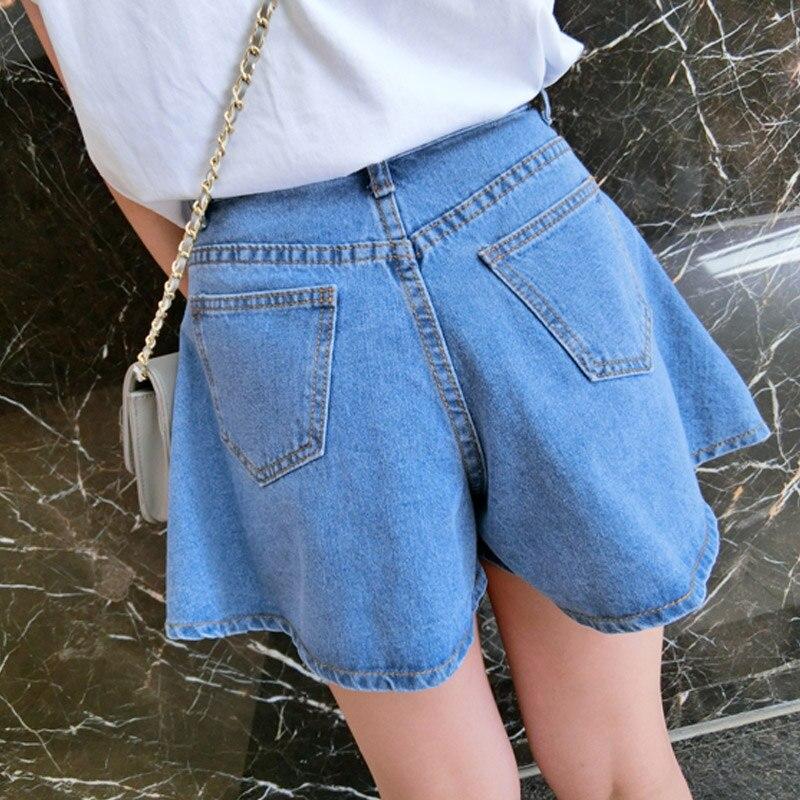 Femme shorts d été 2018 taille haute short en jean lâche large jambe ouvert  jupe shorts KB1046 dans Shorts de Mode Femme et Accessoires sur  AliExpress.com ... f61762540c8