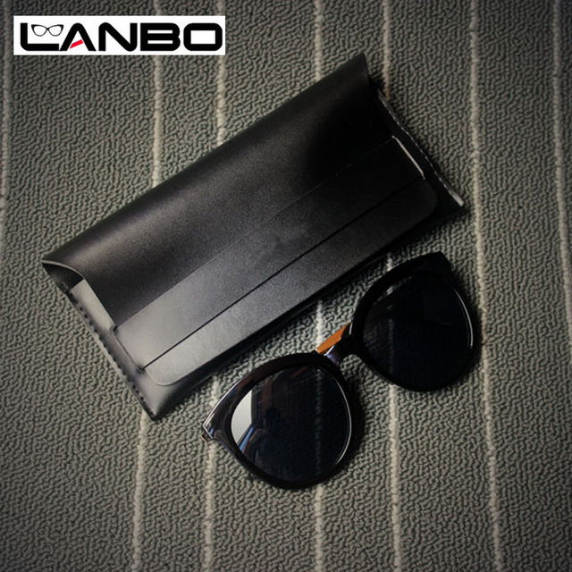 5505ae48bd5 LANBO PU Leather Professional Glasses Case Vintage Sunglasses Eyeglasses  Case Storage Holder Retro Box Cases Glasses