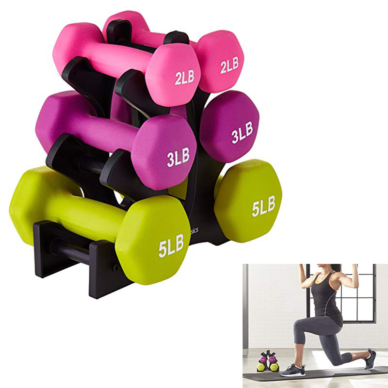 Gym Dumbbell Rack Stands Weightlifting Holder Dumbbell Weight Lifting Floor Bracket Home Exercise Accessories Dumbbells Not Send
