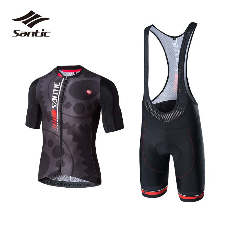 Santic Summer Cycling Sets Men Short Sleeve Breathable Pro Cycling Shorts and Jersey Bike Clothes Bicycle Wear Maillot Ciclismo 2017 cycling bicycle sports sets cool men cycling sets summer pro short sleeve cycling sets blue and white bike wear