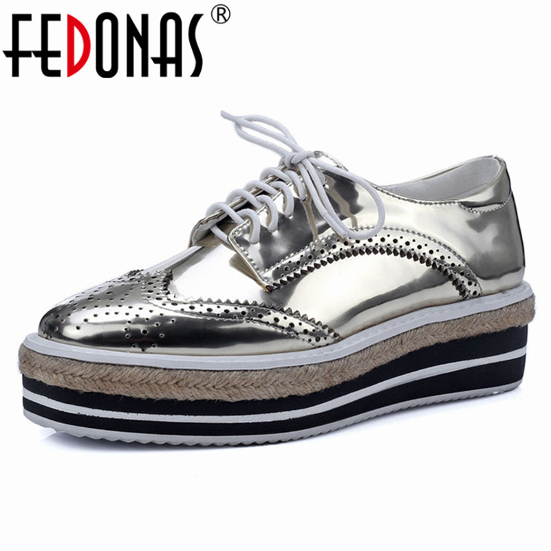 FEDONAS Fashion Women Platforms Flats Genuine Leather Cross-tied Oxfords Shoes Woman Round Toe Casual Quality Comfortable Shoes цена 2017