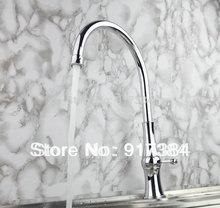 Новый Chrome латунь Кухня раковина кран поворотный 360 горячей и холодной воды опрыскиватель смесителя JN92282