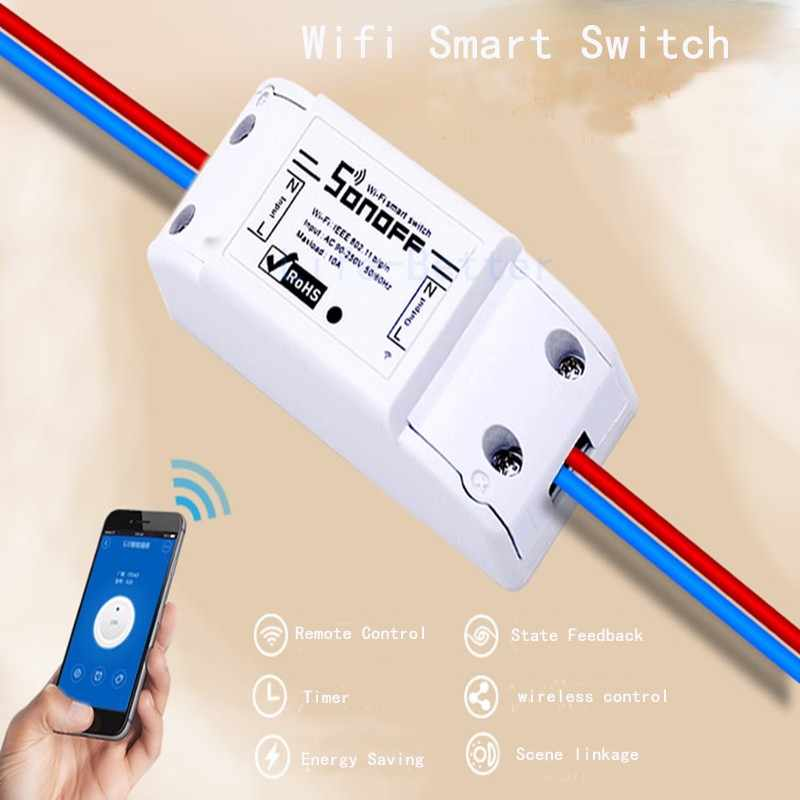 Sonoff Smart Home Remote Control Wireless Wifi Switch S20 Socket RF433  Switches/ 4CH 4 Channel/ E27 Bulbs Holder