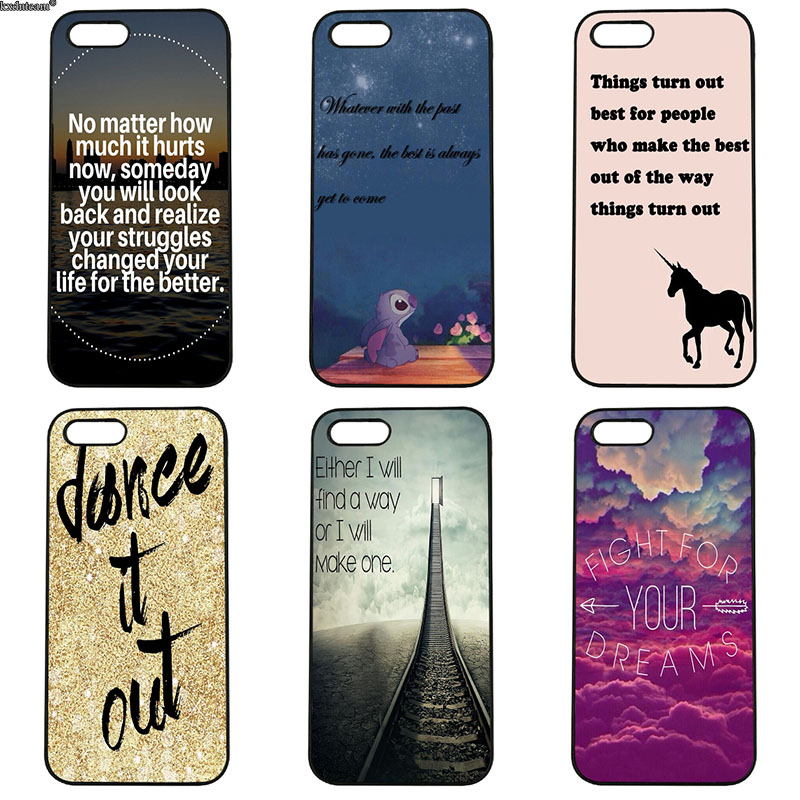 Positive Mentality Quotes Not Give Up Phone Cases Hard Cover for iphone 8 7 6 6S Plus X 5S 5C 5 SE 4 4S iPod Touch 4 5 6 Shell