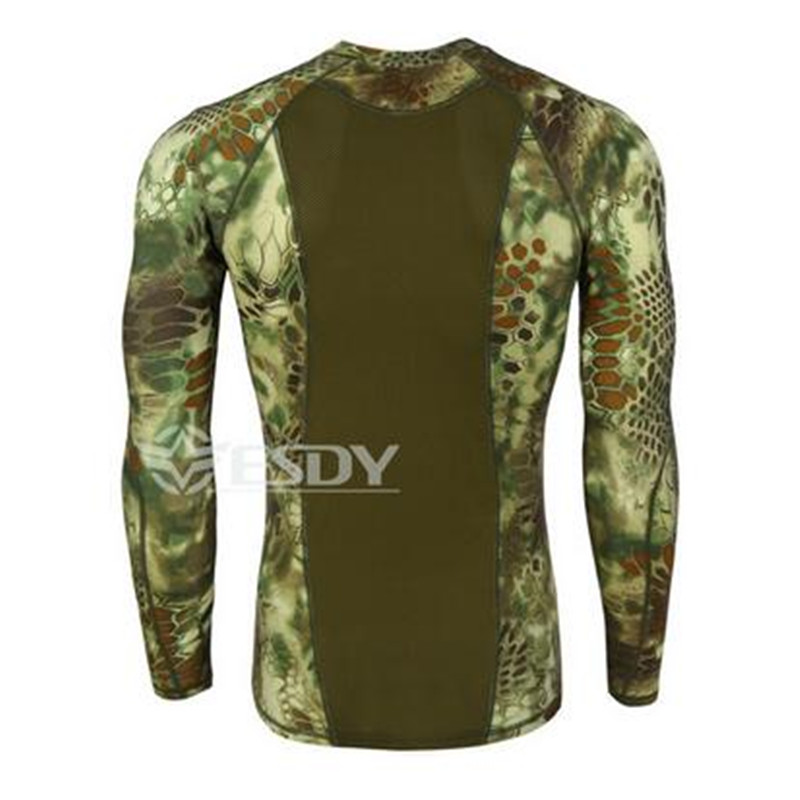 yeni taktiki kamuflyaj T-shirt adam nəfəs alacaq ordu taktiki - Kişi geyimi - Fotoqrafiya 3