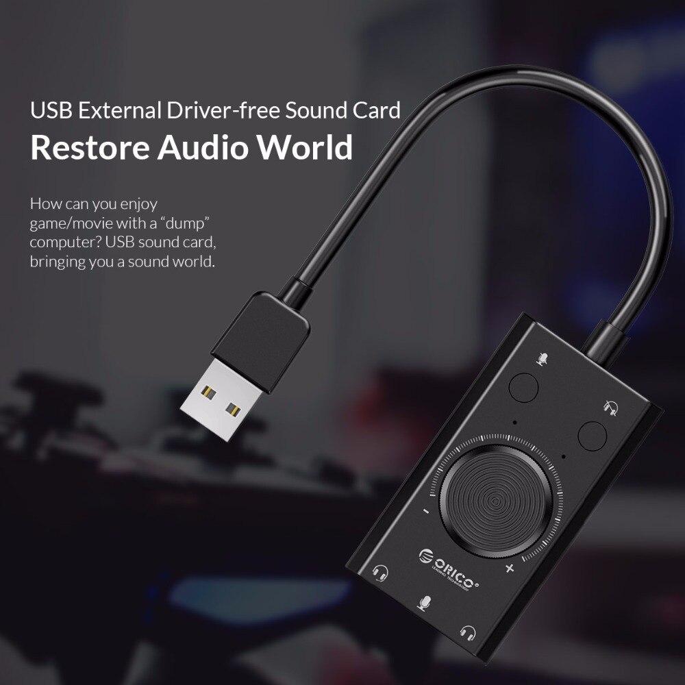 External USB Audio Sound Card Mic Speaker Headphone Jack Stereo Headse Adapter