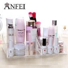 Hohe Qualität Klaren Acryl Lippenstift Halter Make-Up Pinsel Box Kosmetiktasche Schmuck Kosmetische Halter Display Dekoration Für Frauen