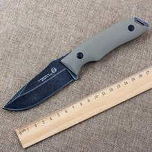 Hot Strider Fixed Knife 8Cr18Mov Blade Hunting Tactical Knife G10 Handle Leather Sheath Camping Survival Knives Outdoor Tools A