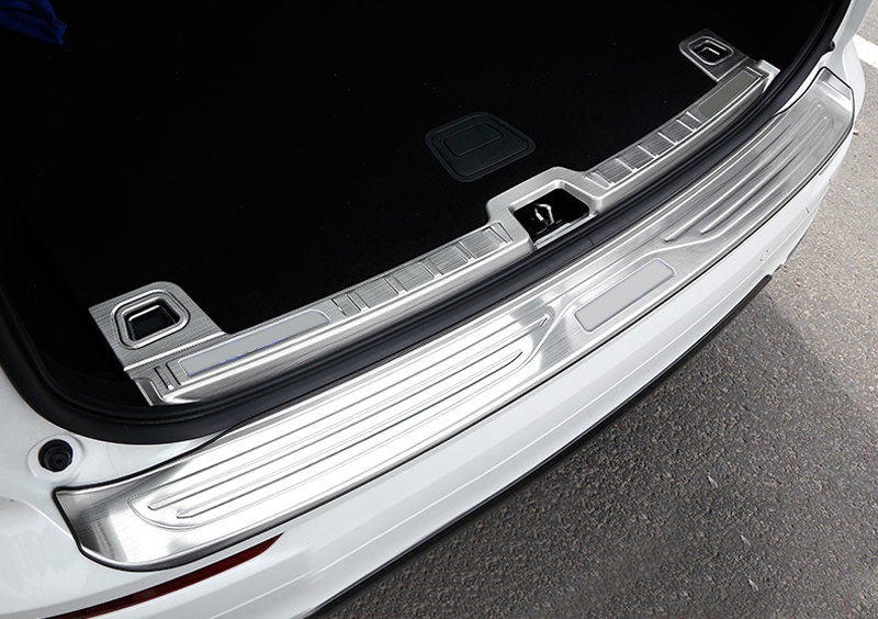for Volvo XC60 Second Generation 2018 Stainless Steel Car Styling Accessories Inner Outer Rear Bumper Protect Plate Cover in Interior Mouldings from Automobiles Motorcycles