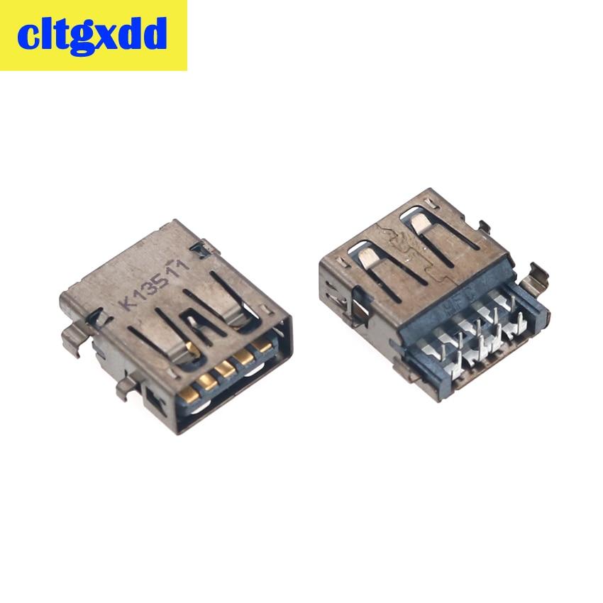 Cltgxdd 2-10pcs USB 3.0 Jack Socket Female Port For LENOVO ASUS ACER ACER SAMSUNG HP 9PIN Connector Data Interface
