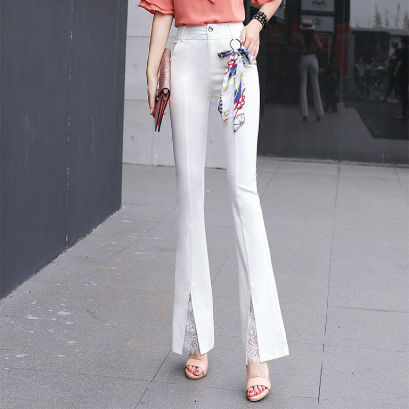 2018 new spring and summer Fashion casual brand slim high waist female women girls flare ...