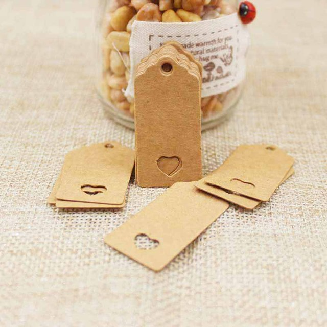 Us 1 42 50 Off 100 Stks Papier Hollow Hart Gift Tags Card Kraft Coquille Festival Bruiloft Decoratie Blank Mini Bagage Label 2 4 Cm In 100 Stks