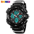 SKMEI 1211 Men Sport Digital Watch Fashion Outdoor Dual Time Watches EL Back Light Chronograph Alarm Clock Wristwatches NEW