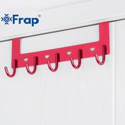 FRAP красный халат крючки пространство Алюминий полотенца двери 5 Крючки установлен настенный крючок ganchos de ropa ahorro де espacio