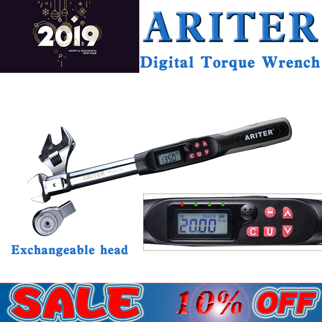 ARITER 2% accuracy  1-340N.m  Adjustable Professional electronic digital Torque Wrench for Repair and maintenance hand Tools