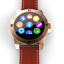 Fashion N10A smart watch phone GSM SMS MMS sport tracker sleep monitor fit for IOS and Android, leather strap